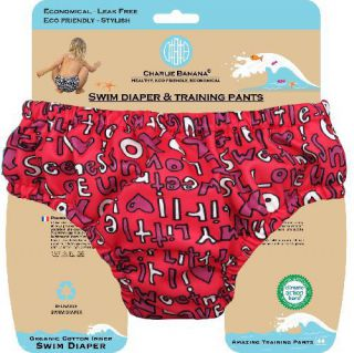 Charlie Banana® Schwimmwindel Trainingswindel 2-in-1 the fashion collection Cutie rot/gemustert