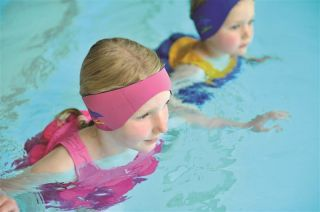 Konfidence Neopren Stirnband - Aquabands Ohrenschutz TM in pink