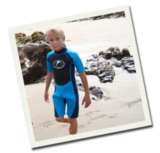 Konfidence Shortie Wetsuit Neopren Kinder Shortie Neoprenanzug Blau Blue