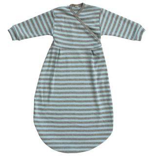 half off 39ddd 8b176 Popolini Felinchen Schlafsack Blue Grey Striped Blau Grau tog 0,5 Interlock  GOTS Jersey Bio-Baumwolle 100% kbA