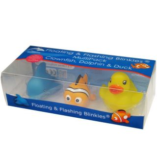 Flashing Clownfish,Dolphin&Duck Blinki (Multipack) - Leucht Clownfisch,Delphin&Ente / Blinki