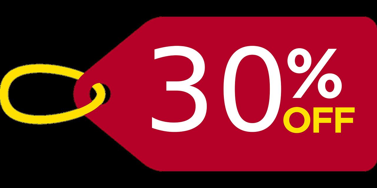 -30% Rabatt auf alle Aktionsartikel